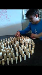 some played with Jenga blocks...